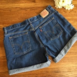 Levis classic denim jean shorts high rise 18